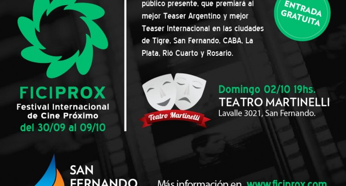 Este domingo llega el Festival Internacional de Cine Próximo al Teatro Martinelli