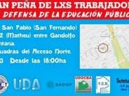 'Gran peña de los trabajadores en defensa de la educación pública' en la Plaza San Pablo