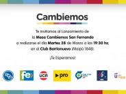 Cambiemos se lanza esta tarde en el club Barrionuevo pensando en las próximas elecciones