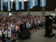 En el Poli N°1 los alumnos de cuarto grado hicieron la promesa de lealtad a la Bandera