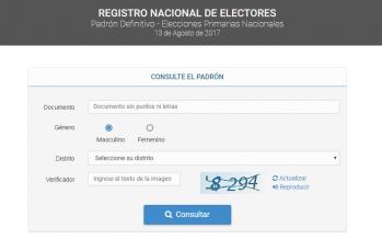 Ya está disponible el padrón para las elecciones PASO
