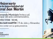 Mañana se conmemorará el 167° aniversario de la muerte del General San Martín