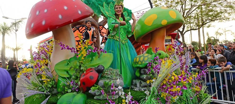 Se realizó la Fiesta de la Primavera en la avenida Avellaneda