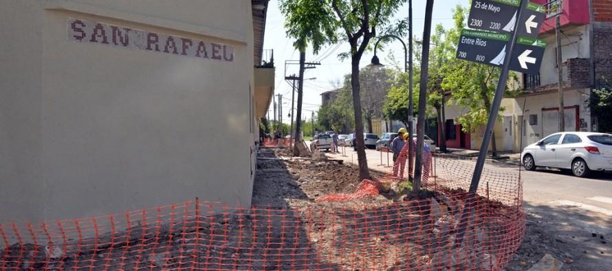 Renovación de la vereda del Colegio San Rafael