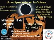 """Charla astronómica sobre """"Un eclipse solar en la Odisea"""" en la Biblioteca Mucho"""