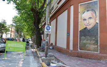 Renovación de las veredas de la Parroquia Don Orione
