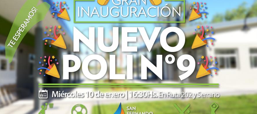Mañana se inaugura el Polideportivo 9 del barrio Presidente Perón