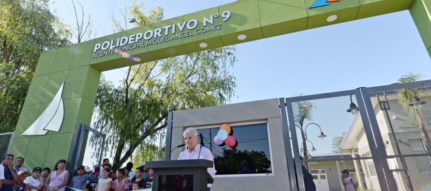 Se inauguró el Polideportivo N° 9 en el barrio Presidente Perón