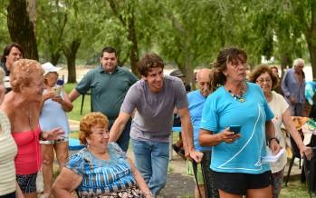 Juan Andreotti visitó las colonias de la Tercera Edad en el Polideportivo N°3