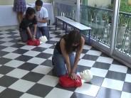 Se dictó un curso de resucitación cardiopulmonar para el personal de Cultura