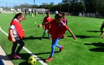 Encuentro de escuelas deportivas en el Poli N°9