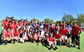 Los jugadores de la Federación Peruana de Hockey visitaron las instalaciones del Poli 7