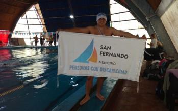 Emanuel Luna obtuvo una medalla de oro en el Nacional de Natación Adaptada