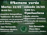 """""""Semana Verde en San Fernando"""": muestra fotográfica, charla y radio abierta para hablar sobre aborto"""