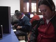 Enseñan computación en el Centro para Ciegos y Disminuidos Visuales