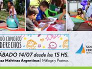 """""""Jugando Conozco mis Derechos"""" llega a la Plaza Malvinas Argentinas"""