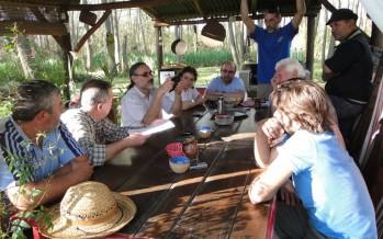 Isleños se reunieron con el diputado Basterra por la problemática del Delta