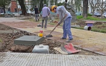 Acto por remodelación de la Plaza San Martín