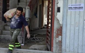 Detuvieron la construcción clandestina de un edificio en San Fernando