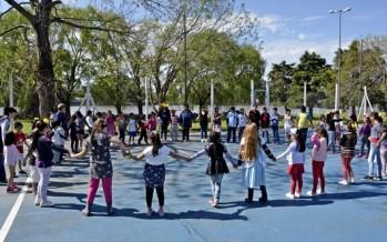 Los chicos de los CEIM celebraron el Día de la Primavera en el Polideportivo N° 3