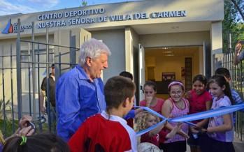 Luis Andreotti inauguró un Centro Cultural y otro Deportivo en Villa del Carmen