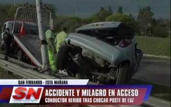 Accidente en Acceso a Tigre y Carlos Casares
