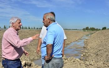 Luis Andreotti visitó las obras del Reservorio de Villa Jardín