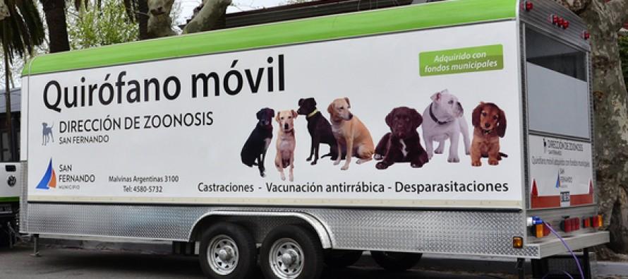 El Quirófano Móvil de Zoonosis estará esta semana en Virreyes