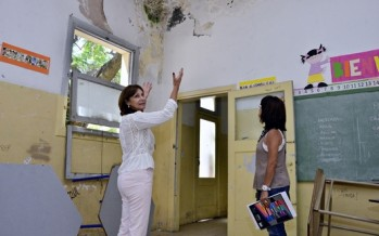 El Municipio empezó renovar una parte de la Escuela Primaria N° 40