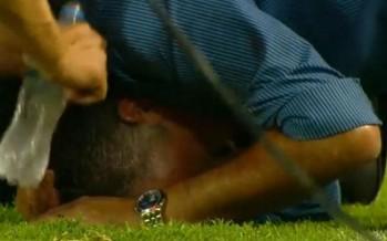 """Alfaro: """"Me duele mucho la cabeza, no sé si por el golpe o por la derrota""""."""