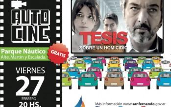 """Autocine en el Parque Náutico: """"Tesis sobre un homicidio"""""""
