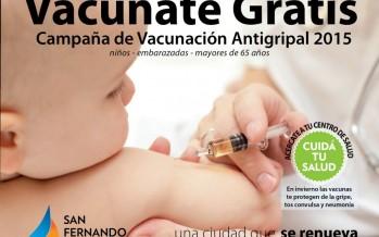 Se lanzó la Campaña de Vacunación Antigripal 2015
