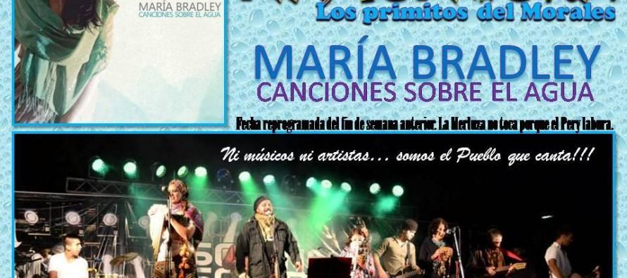 Namuncurá y María Bradley se presentan en Plaza Mitre