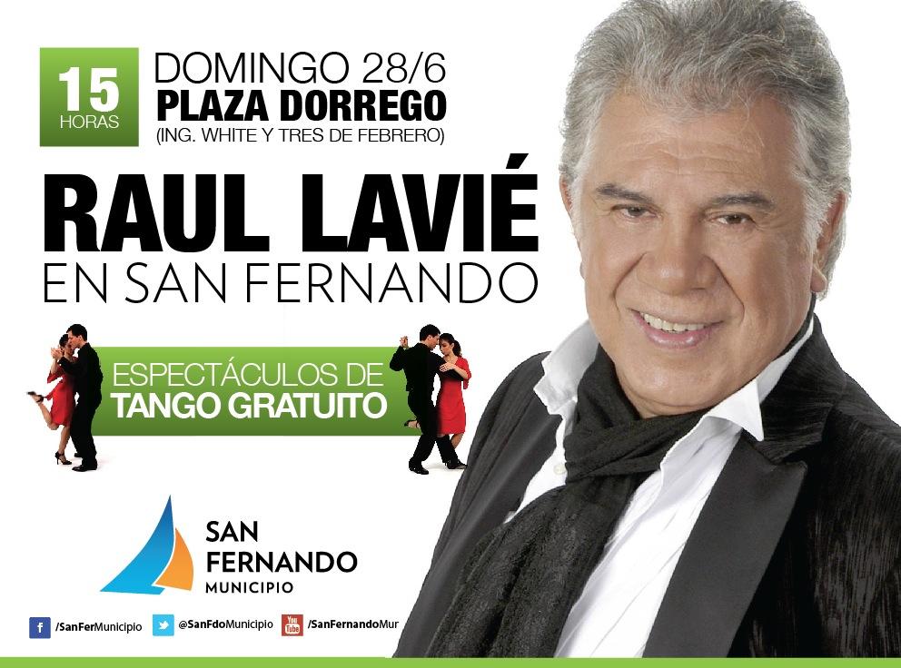 Raul Lavie: Raul Lavié Se Presentará Gratis En Homenaje A Carlos