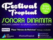 Festival tropical en la Plaza Héroes de Malvinas