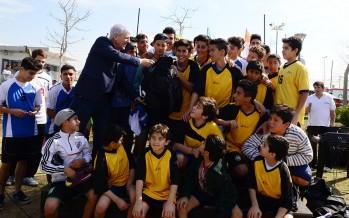 Entrega de materiales deportivos a clubes de la Liga de Fútbol Municipal