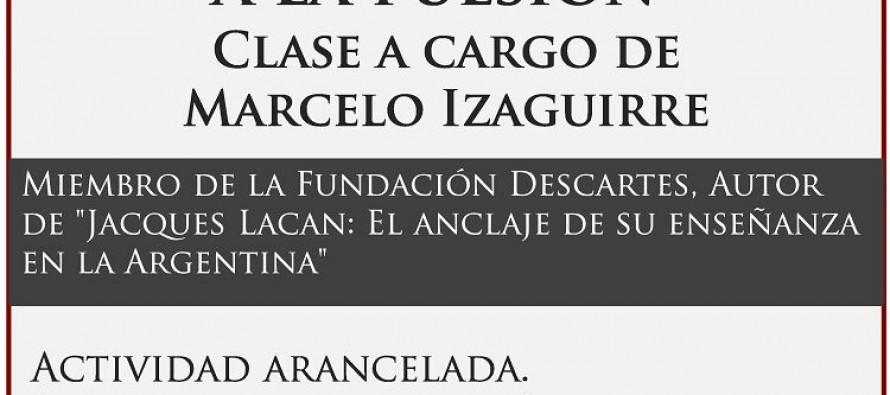 Clase de Marcelo Izaguirre en la sede de la Asociación de Psicoanálisis San Fernando – Tigre