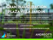 Se inaugura un nueva plaza en Villa Jardín