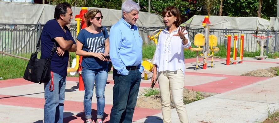 Avanzan las obras de reforma en la nueva Plaza Virgen de Luján