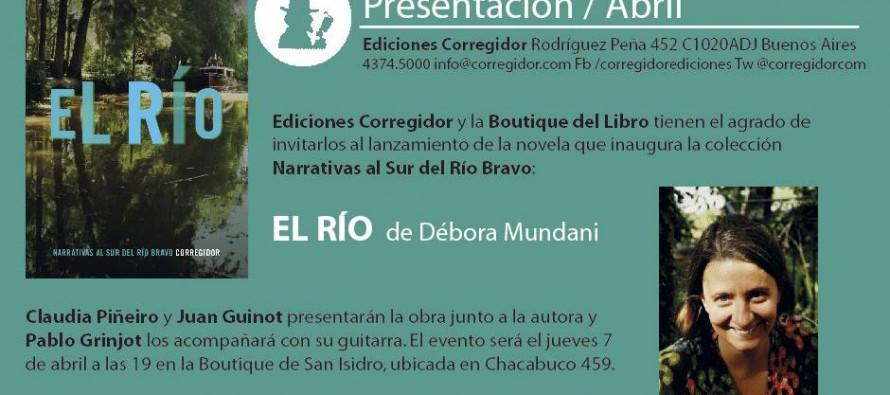 Se presenta la novela El Río de Débora Mundani en la Boutique de San Isidro