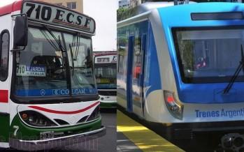 Trenes y colectivos vuelven a aumentar