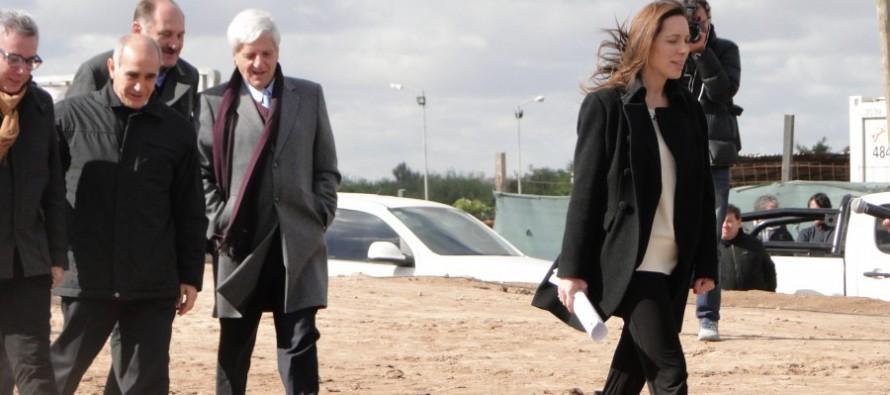 En el Puente Taurita, Vidal anunció un plan hidráulico para la provincia por 15 mil millones de pesos