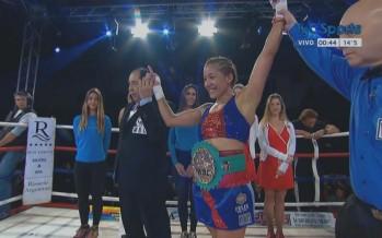 Una pantera invencible: Érica Farías retuvo el título mundial superligero