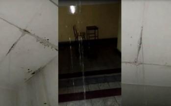 La tormenta dejó en evidencia los graves problemas edilicios de la Escuela N°1
