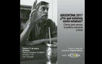 Edgardo Mocca brindará una charla esta noche en el espacio artístico En Breve