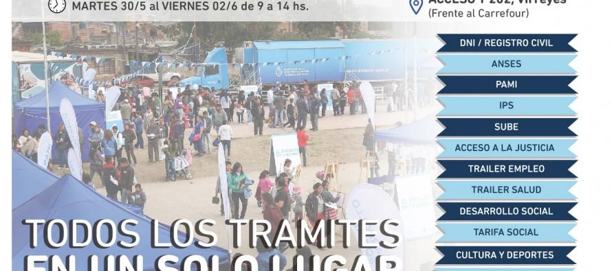 """Desde hoy y hasta el viernes estará """"El Estado en tu barrio"""" en Acceso y ruta 202"""