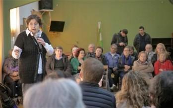 Graciela Ocaña se reunió con jubilados del barrio Crisol