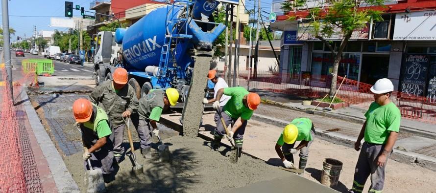 Renovación del pavimento de la Avenida Avellaneda