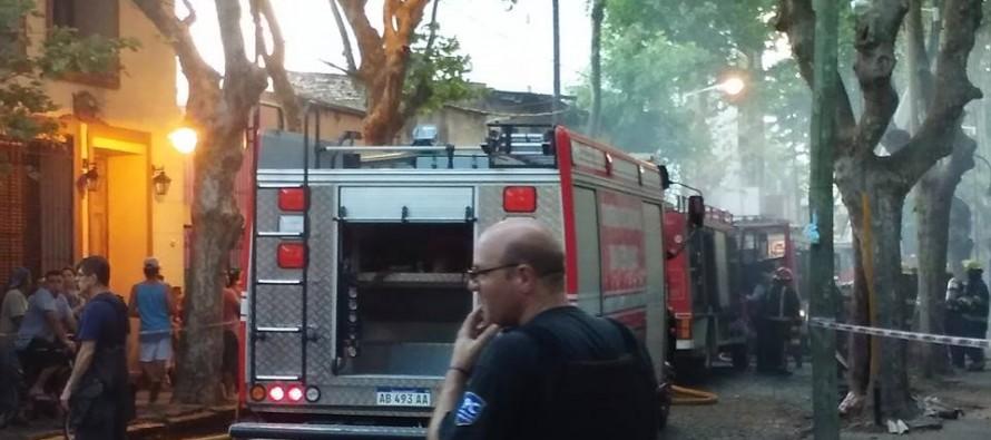 Palacio Otamendi: parte de su patrimonio fue alcanzado por las llamas