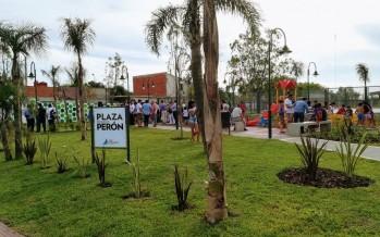 Se inauguró la nueva Plaza Presidente Perón
